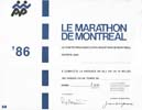 Marathon international de Montréal 1986